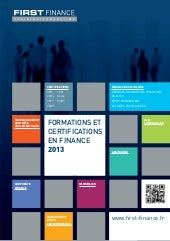 Catalogue 2013 FIRST FINANCE