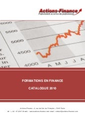 Catalogue Actions Finance 2010