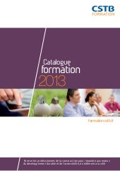 Catalogue cstb formation 2013