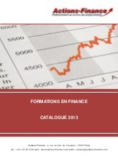 Catalogue de formations en finance