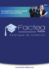 Catalogue des formations Factea Ins...