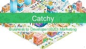 Catchy Developer Marketing (B2D) Agency. An overview of services.