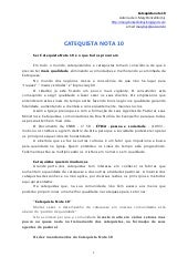 Catequista nota 10