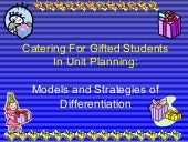 Catering for gifted students in uni...