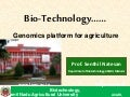 Genomics platform for agriculture-CAT lecture