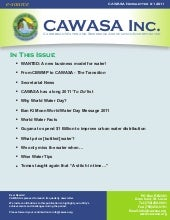 Cawasa newsletter   1st quarter 2011
