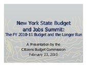 CBC: New York State Budget and Jobs...