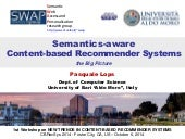 Semantics-aware Content-based Recommender Systems