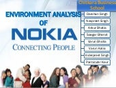 Nokia - Business Enviroment Analysis