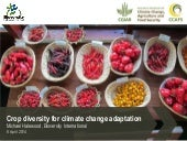 Crop diversity for climate change a...