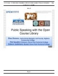 CCCOER Webinar: Public Speaking with the Open Course Library