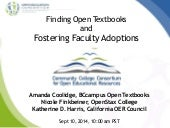 Cccoer Webinar Find and Adopt Open Textbooks