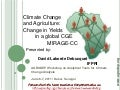 Climate Change and Agriculture: Change in Yields in a global CGE MIRAGE-CC