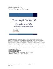Ccf Financial Management Narative