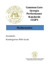 CCGPS Math Standards K-5
