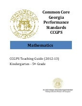 CCGPS Math Standards