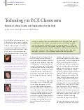 Technology in ECE Classrooms Results of a New Survey and Implications for the Field by Fran Simon, Karen Nemeth, and Dale McManis