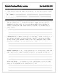 Reflective Teaching, Effective Learning Handout