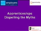 Apprenticeships - dispelling the my...