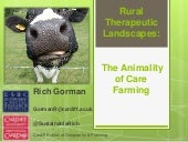 Rural Therapeutic Landscapes & the Animality of Care Farming - by Richard Gorman
