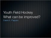 Youth field hockey improvements