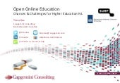Open and online education - chances...