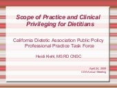 Clinical Privileging and Scope of P...