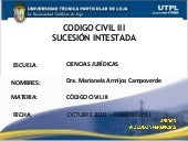 CODIGO CIVIL III SUCESION INTESTADA