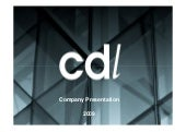 Cdl Group Presentation