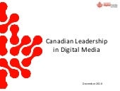 Canadian Digital Media Network over...