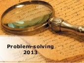 Problem Solving PowerPoint PPT Cont...