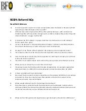 RESPA Reform FAQ - January 2010