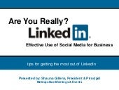 Basic Tips on LinkedIn for Business...