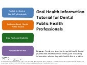 Module 3: Oral Health Data Tools an...