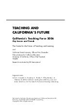 Teaching and California's future