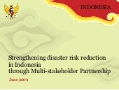 Strengthening disaster risk reducti...