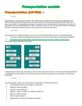 SAP - Transportation Module Study m...