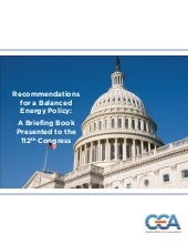 CEA 112th Congress Policy Recommend...