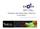 Analítica web y marketing en buscadores, por Guillermo Vilarroig (Overalia), en CEBEK