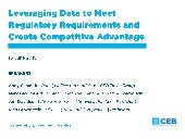 Leveraging Data in Financial Services to Meet Regulatory Requirements and Create Competitive Advantage
