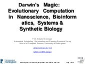Darwin's Magic: Evolutionary Comput...