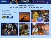 Astronomy curricula for different a...