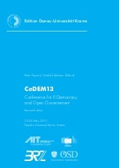 Conference for E-Democracy and Open...