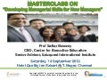 "CEE Masterclass on ""Managerial Skills for New Managers"" -  14 September 2013"
