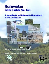 Caribbean;  Rainwater, Catch it Whi...