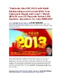 Celebrate this CNY 2013 with Build Relationships and Connect with your New Customers