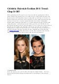 Celebrity Hairstyle Fashion 2011 Trend: Chop It Off!