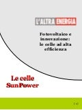 Nuove Celle Fotovoltaiche SunPower