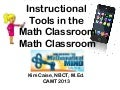 Cell Phones as Instructional Tools in the Math Classroom - CAMT 2013