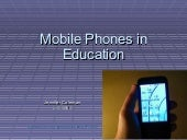 Mobile Phones in Education